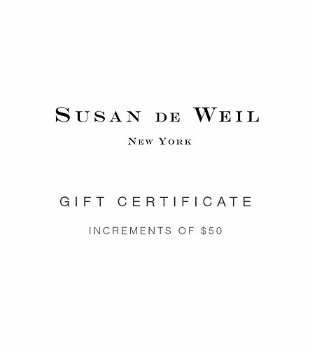 GIFT CERTIFICATE - INCREMENT OF $50