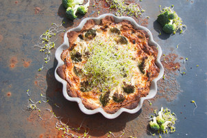 Broccolipaj med böngroddar!