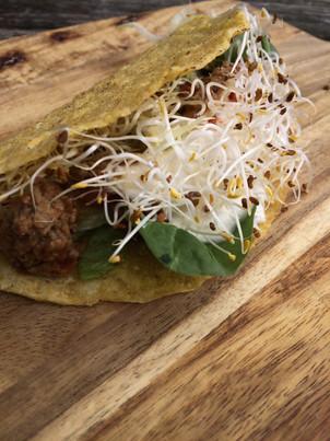 Taco med alfalfagroddar
