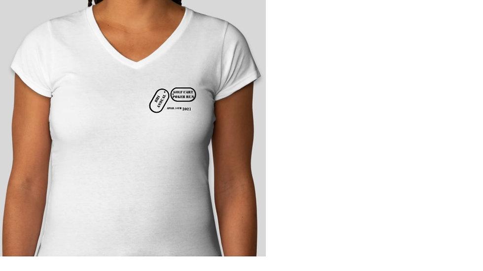 Womens V-neck Tee Shirt
