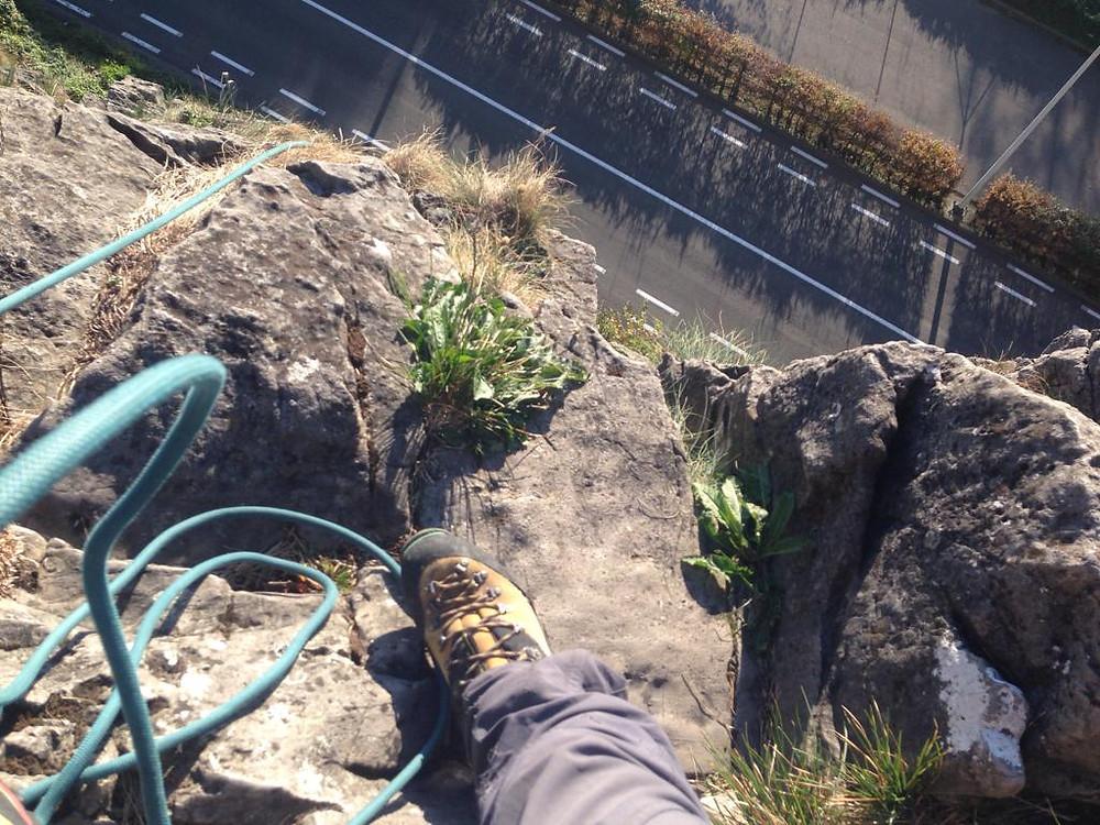 rotsklimmen touw klimgebied