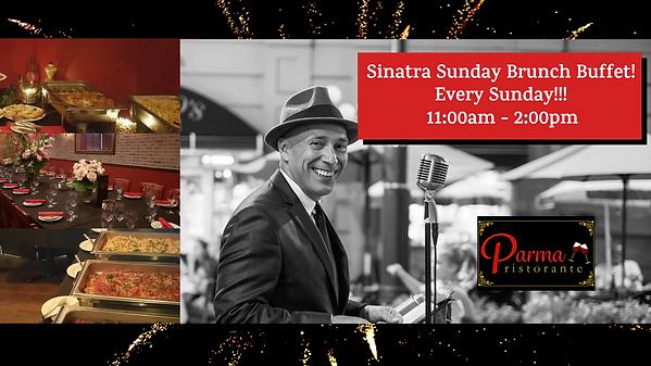 Sinatra Sunday Brunch Buffet Event Post.
