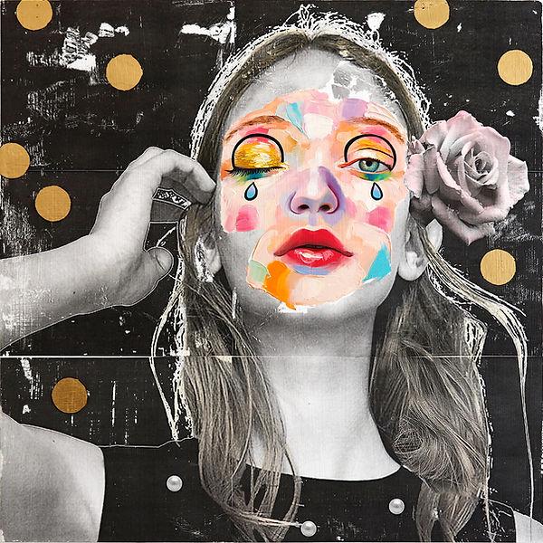 Midnight Garden Party, 45 x 45 cm, acryl