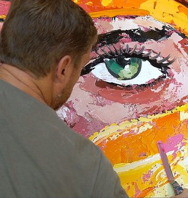 Painting with palette knives
