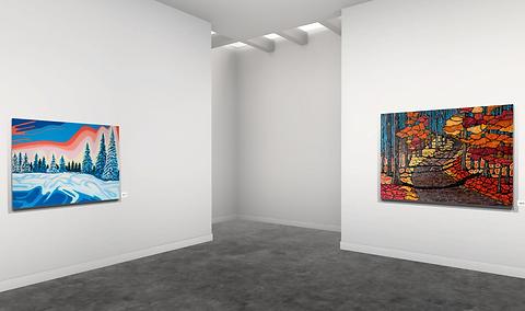 Lift art gallery, virtual exhibition, 3d art show, David Tomlin, buy art