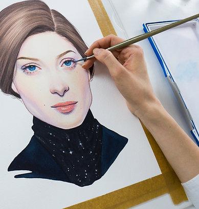 Portraits in watercolor