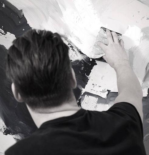 Tomas Hammar Painting Lohme Art Gallery.