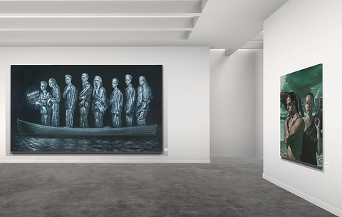 Lift art gallery, virtual exhibition, 3d art show, Geoff, buy artey Laurence