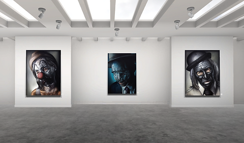 Lift art gallery, virtual exhibition, 3d art show, Michael Labua, buy art