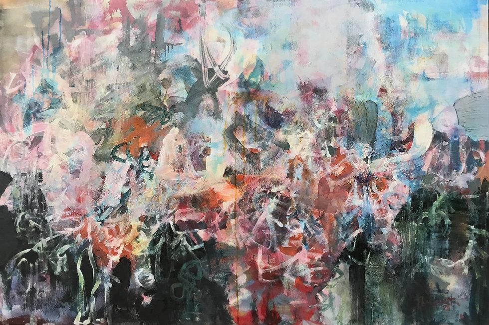 102 x 152 cm LEAVING THE FAIR Acrylic, i