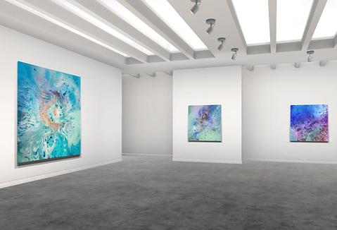 Lift art gallery, virtual exhibition, 3d art show, Emma Lindstrom, buy art