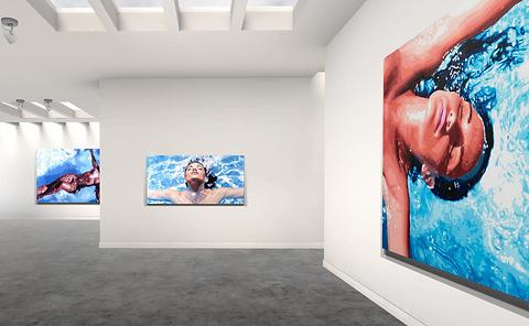 Lift art gallery, virtual exhibition, 3d art show, Todd Monk, buy art