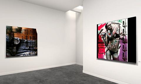 Lift art gallery, virtual exhibition, 3d art show, Marcello Maugeri, buy art