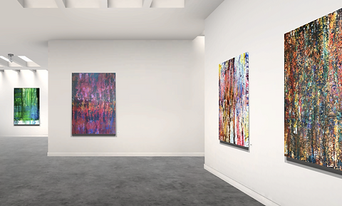 Lift art gallery, virtual exhibition, 3d art show, Omid Ghorab, buy art