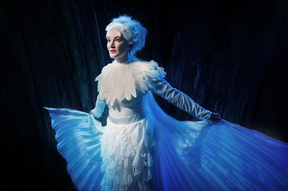 Emily Truckenbrod as Tesla's Pigeon by Melissa Dunphy