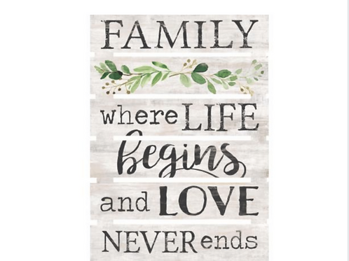"""Pine Pallet Wood Sign - """"Family"""""""
