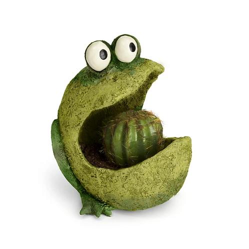 "Blob House - ""Gaper the Green Frog"" Planter"
