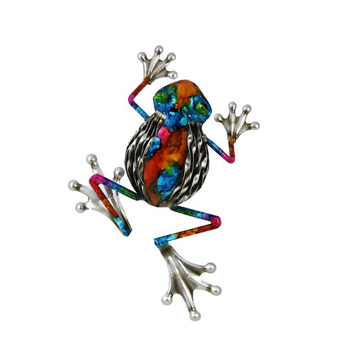 Colourful Frog - Metal Wall Art