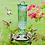 Thumbnail: Elegant Antique Glass Bottle -Green- Hummingbird Feeder