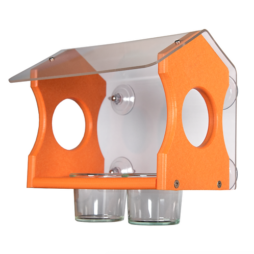 Recycled Oriole Window Feeder