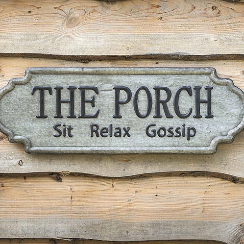 "Galvanized Metal Sign - ""The Porch"""