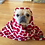 Thumbnail: Red Bone Dog Blanket