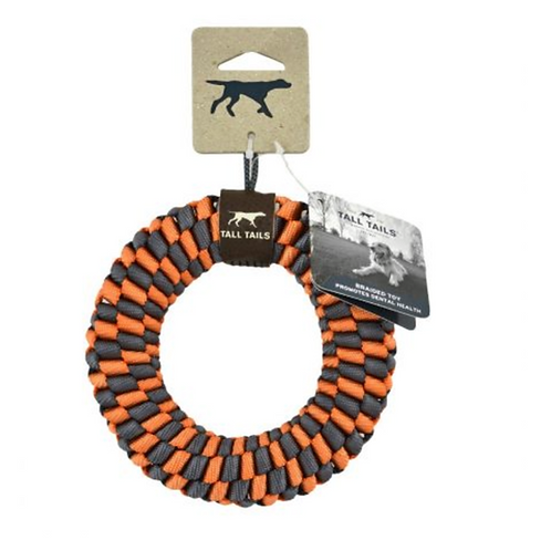 Orange Braided Ring Toy
