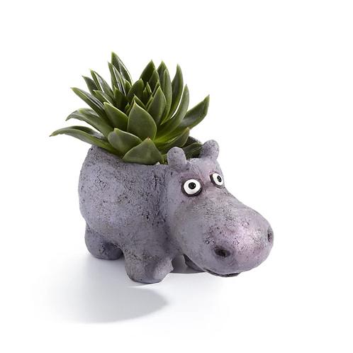 "Blob House - ""Hazel the House Hippo"" Planter"