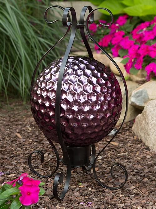 "Translucent Purple Embossed Gazing Globe 10"""