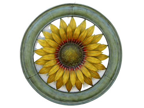 Round Metal Sunflower Sign -25""