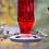 Thumbnail: Ruby Starburst Vintage Glass Bottle - Hummingbird Feeder
