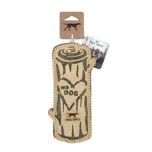 Natural Leather - Love My Dog Log Toy