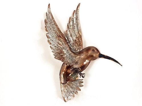 Shiny Metal Hummingbird - Wall Art