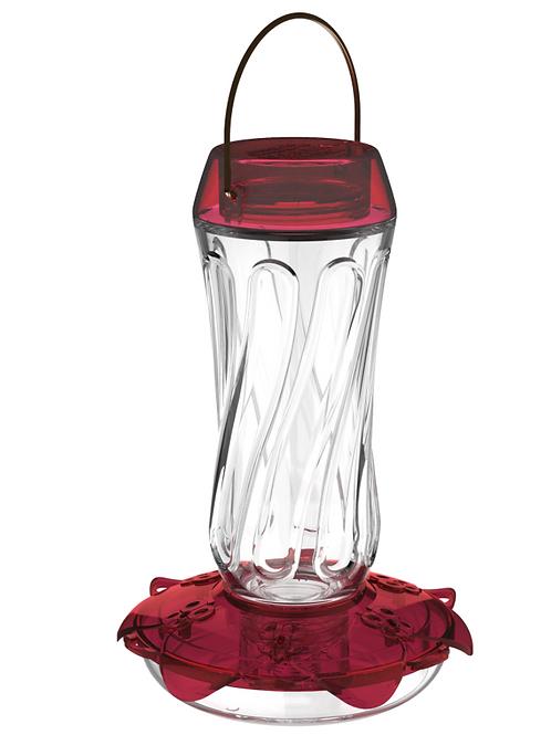 Classic Glass Hummingbird Feeder