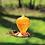 Thumbnail: Orange Balloon Glass Oriole Feeder-Copper Base