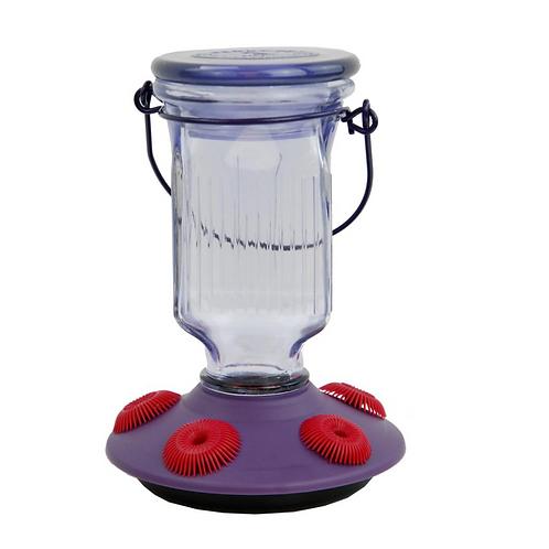 Lavender Field Top-Fill Glass - Hummingbird Feeder