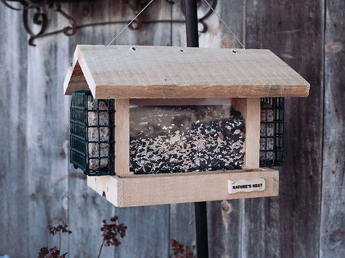 Tim's Cottage Feeder with Suet Cages