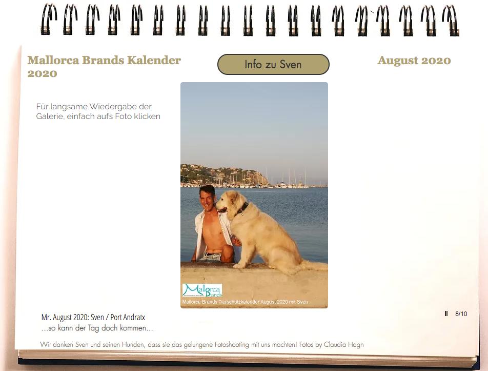 Tierschutzkalender Mallorcabrands Sven 6