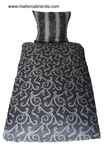 Ornament grau/silber, Jacquard Designer Bettwäsche Set