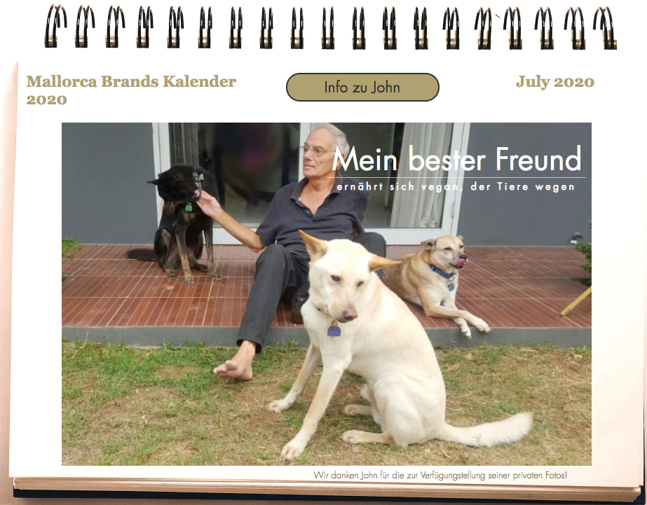 Tierschutzkalender Juli Mr. July John