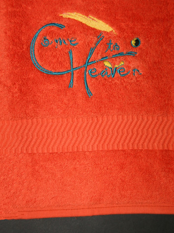 Stickerei _Come to Heaven_