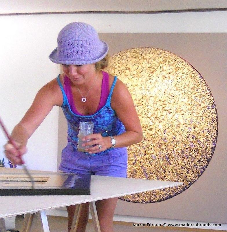 Katrin Förster in ihrem Atelier