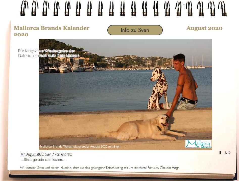 Tierschutzkalender Mallorcabrands Sven 5
