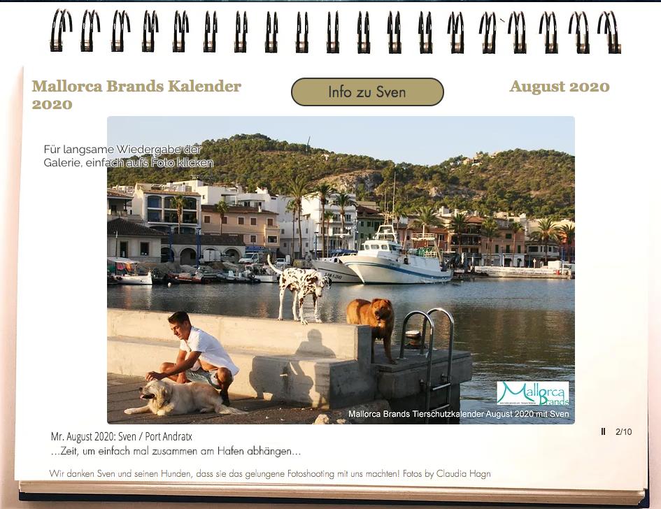 Tierschutzkalender Mallorcabrands Sven 8