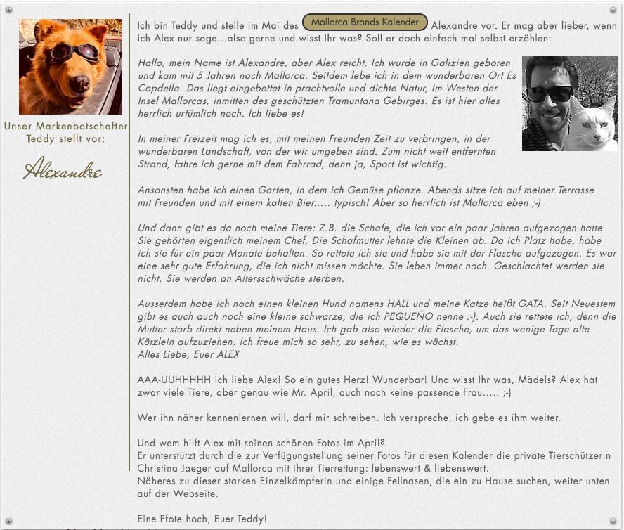 Geschichte zu Mr. May. Alexandre