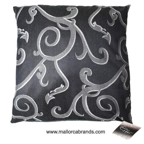 Ornament grau/silber, Jacquard Kissen