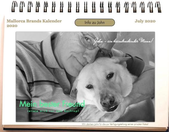 Tierschutzkalender Mann des Monats John