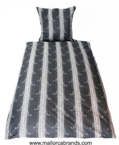 Streifen grau/silber, Jacquard Designer Bettwäsche Set