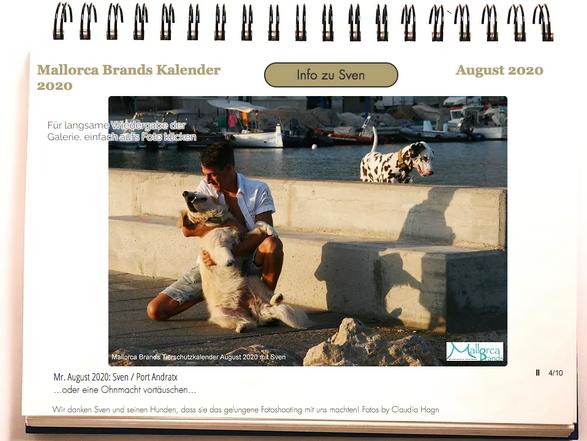 Tierschutzkalender Mallorcabrands Sven 9
