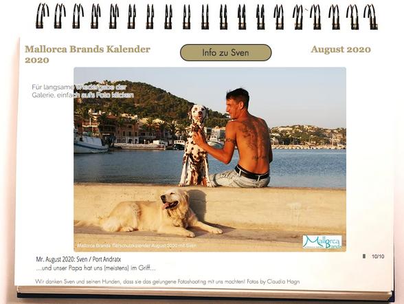 Tierschutzkalender Mallorcabrands Sven 2